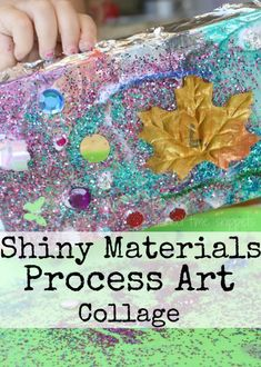 Shiny Materials Process Art Collage | School Time Snippets