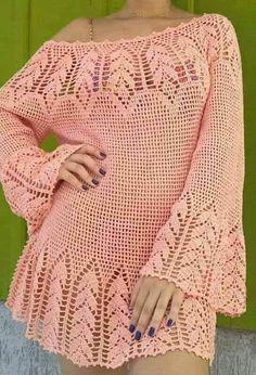 Fabulous Crochet a Little Black Crochet Dress Ideas. Georgeous Crochet a Little Black Crochet Dress Ideas. Crochet Tunic Pattern, Crochet Cardigan, Crochet Shawl, Baby Summer Dresses, Summer Dress Patterns, Bikini Crochet, Crochet Woman, Filet Crochet, Beautiful Crochet