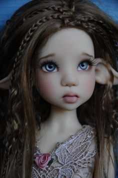 Gorgeous Customized Fair Skin Laryssa Faun MSD BJD by Kaye Wiggs...shared by Paulina Rodas