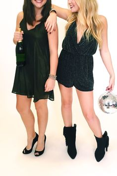 Grab a friend and a LBD and you're NYE ready! Shop our New Year's Eve collection now! #NYE #LBD #nightout