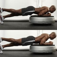 Build a six-pack with the power plate