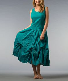 Take a look at this Teal Pin Tuck Dress by Kaktus on #zulily today!  $24.99, regular 90.00