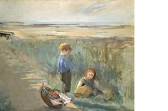 "Eva Gonzalès - ""Children on the Sand Dunes, Grandcamp"""