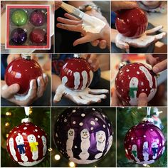 Stunning Handprint Snowmen Ornaments to Decorate Your Christmas Tree