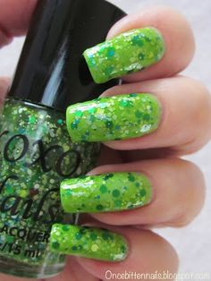 Celebrating St Patty's Day with Lucky Tips Applied Over Don't Hate Me by XOXO Nails