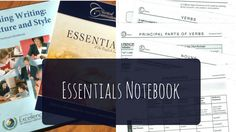 Simple visual guide to preparing your Essentials Notebook with a list of supplies Classical Conversations Essentials