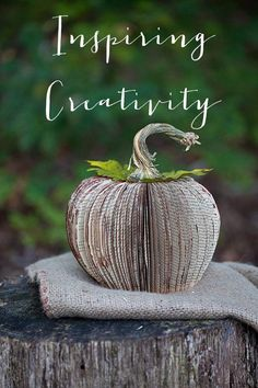 Turn an old paperback book into art with this fun paper carving technique to create a pumpkin. Pumpkin Books, Diy Pumpkin, Pumpkin Crafts, Paper Pumpkin, Old Book Crafts, Book Page Crafts, Craft Books, Folded Book Art, Book Folding