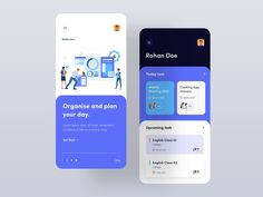 Task To Do App designed by Sayem ✪ for Hiwow. Connect with them on Dribbble; the global community for designers and creative professionals. Best Ui Design, App Ui Design, Dashboard Design, Design Design, Graphic Design, Hotel App, To Do App, Ui Design Mobile, Task To Do
