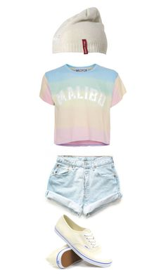 """""""Malibu"""" by colorful-trends ❤ liked on Polyvore featuring Wildfox, Levi's, Vans and Helly Hansen"""