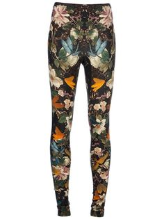 ALEXANDER MCQUEEN Floral Print Leggings