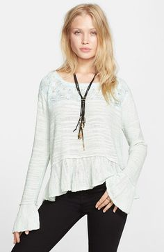 Free People 'Kristobel' Ruffled Top available at #Nordstrom