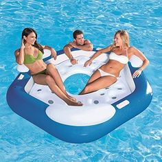 Pools1-Person Green LayZRiver Inflatable Swim Mattress Float for Lakes