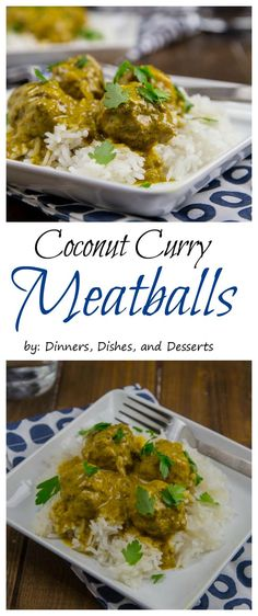 Coconut Curry Meatballs - Tender meatballs in a super flavorful coconut curry sauce.  Great over quinoa!  Serves 8 for Phase 3.