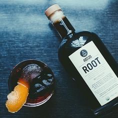 A good idea for tonight: ROOT and rye, equal parts. #cocktails #organic