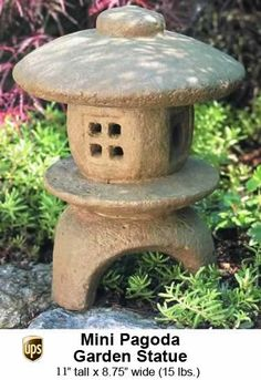 Mini Pagoda Garden Statue, Small Enough For Indoors But Beautiful For  Outdoors Too!