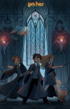"""A scene of Prisoner of Azkaban. Harry, Ron, Hermione, Scabbers, Hedwig and Crookshanks. julierouviere: Thank you for your support ! A little fan art of """"Harry Potter"""" ! Harry Potter Anime, Harry Potter Fan Art, Mundo Harry Potter, Images Harry Potter, Harry Potter Drawings, Harry Potter Books, Harry Potter Universal, Harry Potter Fandom, Harry Potter World"""