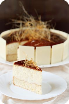 Beautiful Caramel Mousse Cake (recipe in russian)