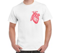Heart Anatomy T Shirt Heart Love Passion by FreakyTshirtShop