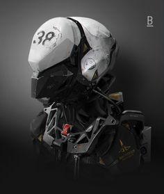 MM45 Helmet Closed, Benoit Godde on ArtStation at http://www.artstation.com/artwork/mm45-helmet-closed
