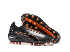 Puma evoTOUCH Pro FG Black   Shocking Orange Soccer Cleats Crampon Puma c92948eb3a3f5