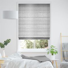Dupioni Faux Silk Platinum Roman Blind Home Bedroom, Master Bedroom, Bedrooms, Grey Roman Blinds, Store Bateau, Sultan, Wow Products, New Room, New Homes