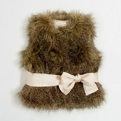J.Crew Factory - Factory girls' belted faux-fur vest. Love this for Audrey!