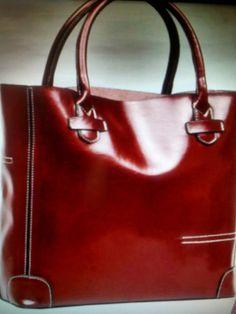 Leather One Shoulder Handbag/ Wine
