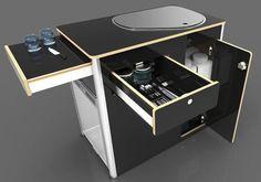 "VW Kitchen Gallery Concept design kitchen pod [one_half class=""firstcols""][/one_half] [one_half class=""lastcols""][/one_half] Camper Diy, Kombi Camper, Kombi Motorhome, Kombi Home, Camper Trailers, Campervan, Vw T5, Volkswagen Transporter, Van Conversion Interior"