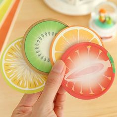 Ripe summer fruit sticky notes are fun to use. Write-and-stick wherever you need a little reminder. Set of 3 random fruit note pads (or if you have a preference, just let me know in the comments box during checkout and Ill do my best to accommodate). Quantity: Set of 3