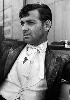 Clark Gable, bearded and dirty from a scene while filming on the set of San Francisco, 1936, by Alfred Eisenstaedt