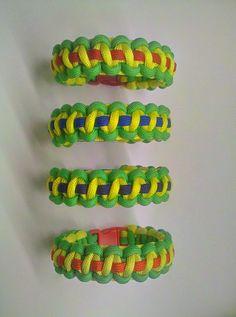 Teenage Mutant Ninja Turtles Paracord Bracelets - Four Bracelet Set. $35.00, via Etsy.