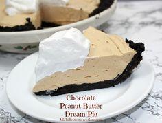 Chocolate Peanut Butter Dream Pie Recipe! #pies #recipes