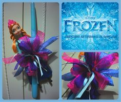 Easter Candle, Lampada, Λαμπάδα, Frozen, Anna