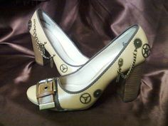 Steampunk Heels by buyouchan on Etsy, $25.00