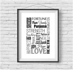 Typography Graphic Print Typography Poster Inspirational Print Motivational Poster Good Luck Print Modern Poster Graphic Wall Art Home Decor