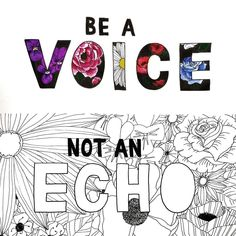 Be a voice, not an echo. I did today's prompt last night right before bed so it's not quite what I had planned… Before Bed, Last Night, Prompts, Hand Lettering, The Voice, How To Plan, Instagram, Handwriting, Calligraphy