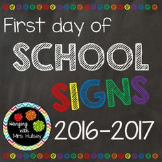 At the beginning of the school year (2016-2017) I plan to laminate the 3rd grade sign and take a picture of each student holding it. It's a great way to show growth throughout the year (if you also take an end of year picture)-- or just good for classroom management.