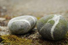 Felt Pebbles by kneek, via Flickr