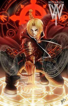 Edward Elric - Fullmetal Alchemist - 11 x 17 imprimé numérique