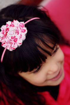 Valentine Headband Pink Headband Heart Headband by mysweetbee, $8.00