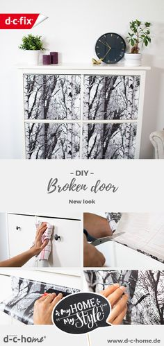 Would you like to give your damaged doors a new look? With a little effort, you can give the doors in your home a new design. Ikea Furniture Hacks, Upcycled Furniture, Furniture Makeover, Create Your Own World, Dc Fix, Sticky Back Plastic, Effort, Diy Home Decor, Diys