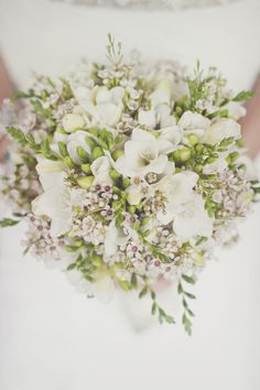 white and green wedding bouquet. love it!