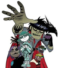 Gorillaz- Phase 2 picture. The raven (or crow) is Murdoc's, and his name is 'Cortez, a jailbird with a chilling reputation.'