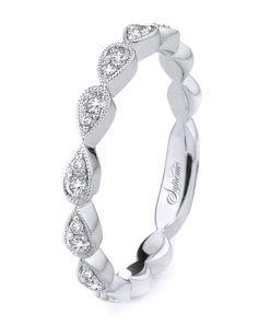 18k white gold wedding band | Supreme Jewelry SJ132 | http://knot.ly/6499B7iZc