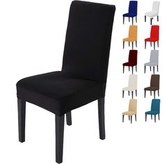 Amduine Chair Cover Comfortable Wrinkle Resistant Spandex Hood Removable Stretch Dining Room Wedding Banquet