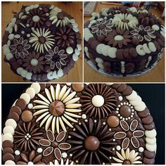 Use smarties or m n ms to decorate the cake