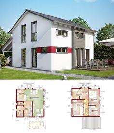 Modernes haus grundriss mit pool  Design Doppelhaus im Bauhaus Stil mit Grundriss - Haus Celebration ...