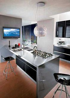 Kitchen With Modular Work Island EL Cuisine Pinterest - Contemporary kitchen with modular work island el_01 by elmar