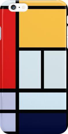 Piet Mondrian Minimalist Art by Javier Martinez