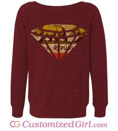 California Distressed Rep custom sweater from CustomizedGirl